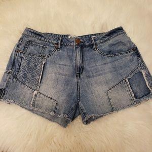William Rast denim jean shorts cut off frayed 30
